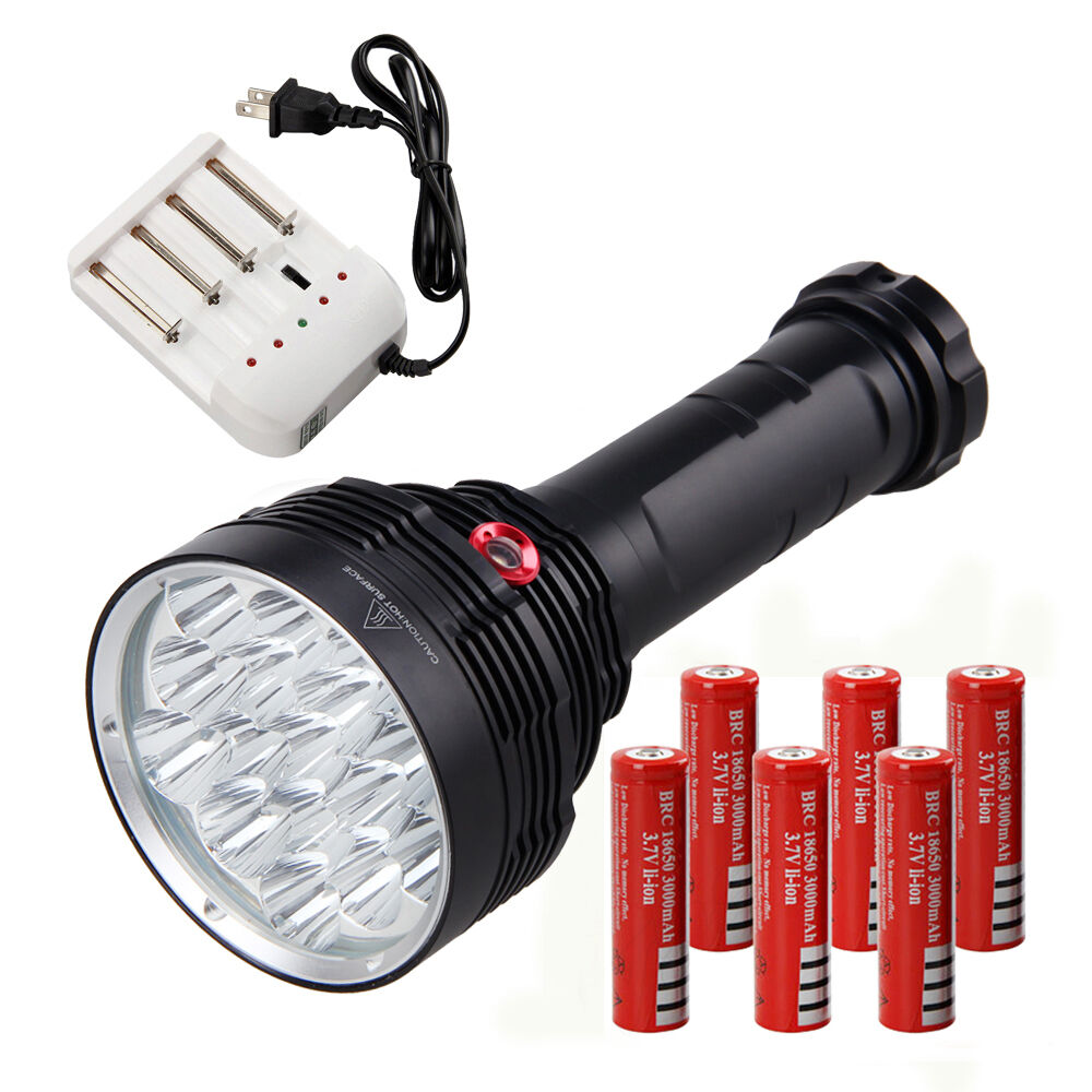 Vastfire Hunting 32000 LM 16 XML XML 16 T6 LED Flashlight Torch Work Light 6x18650 278e3a