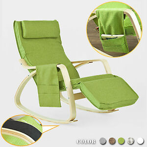 Sobuy 174 Rocking Chair Rocking Chair With Adjustable