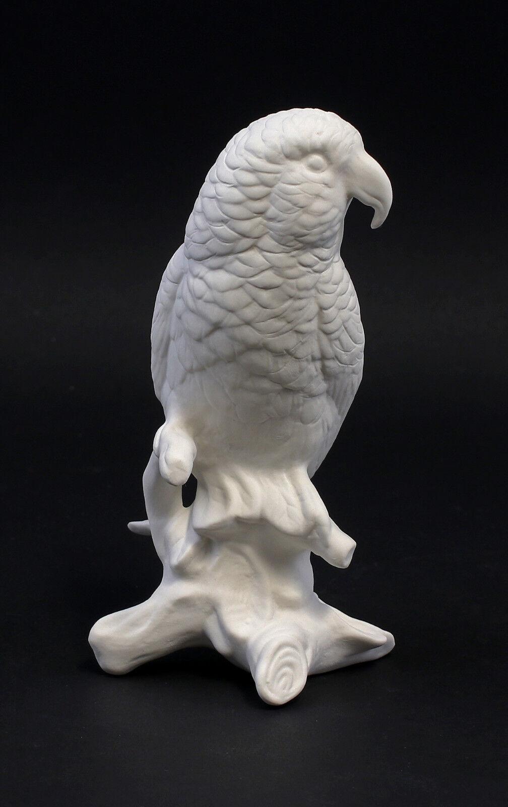 9959231 Porzellan Figur Papagei weiß bisquit Vogel Vogel Vogel Ens H16cm 9d01b4