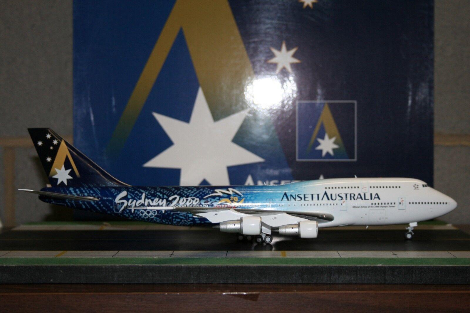 JC Wings 1 200 Ansett Boeing 747-300 VH-INJ  Sydney 2000 Olympics  (BBOX212)