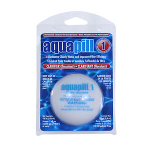 Aqua Pill 1 Swimming Pool Water Clarifier & Flocculant Chemical ...