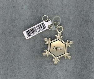 Details About Snowflake Charm Zipper Pull Crafts Pendant Backpack Personalized April