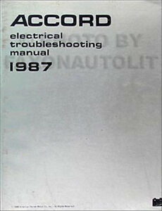 1987 Honda Accord Electrical Troubleshooting Manual 87 Wiring Diagrams Dx Lx Lxi Ebay