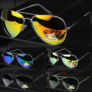 New-POLARIZED-Pilot-Sunglasses-Mens-Women-039-s-UV400