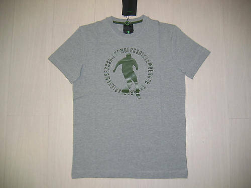 AA 5002 TG XXL BIKKEMBERGS LOGO TEE T-SHIRT GREY GREEN T-SHIRT COTTON