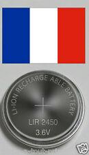 Accu pile rechargeable LIR2450 3.6V Li-ion coin battery LIR 2450 batterie CR2450