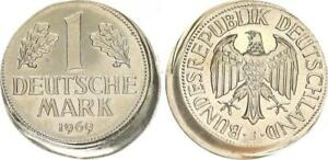 1 DM J.385 1969 J, Lack Coinage 15% Dezentriert And Schüsselförmig Prfr