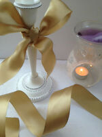SMOOOOTH GOLD Classy Satin Christmas / Wedding - 38mm - Luxury Wire Edged Ribbon