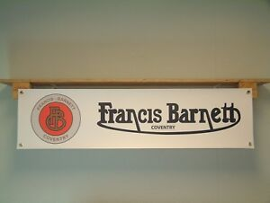 Francis Barnett Banner Garage Workshop Classic Motorcycle PVC Sign Track Display Signs & Plaques
