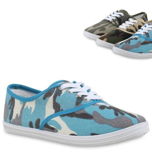 895098 Damen Sneakers Prints Sportschuhe Camouflage Stoffschuhe Trendy