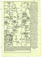 1720 Bowen Road Map Basingstoke Andover Salisbury etc Double Sided