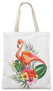 Einkaufstasche Stofftasche Jutetasche Shopping Bag Tragetasche Flamingo A-102