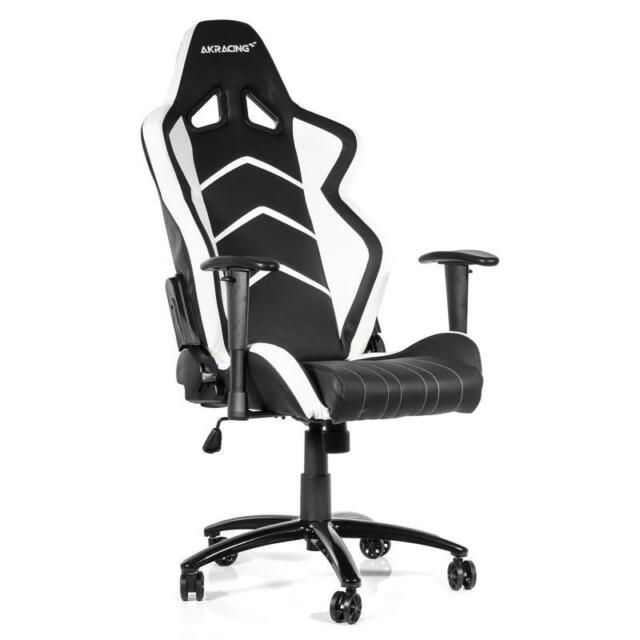 Wondrous Ak Racing Player 6014 Gaming Chair Black White Machost Co Dining Chair Design Ideas Machostcouk