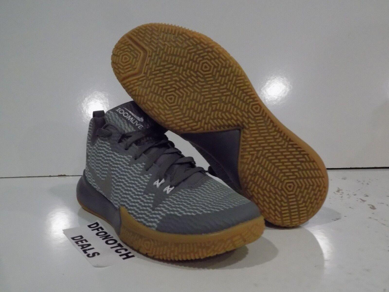 40f156149e9 Nike Zoom Live 2 II Basketball Shoes Sz 10 Grey Reflect Silver Gum ...