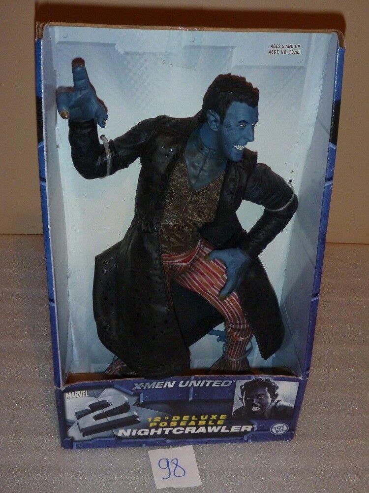 Marvel Comics X-Uomo United 12  Poseable NightCrawler Figure Toy Biz Nuovo In Box