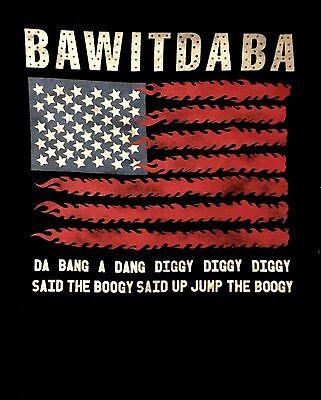 KID ROCK cd lgo US Flag BAWITDABA Lyric Nation Official SHIRT LRG New OOP