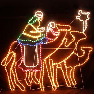 120cm Led Wise Men Riding Camels Towards The Bethlehem
