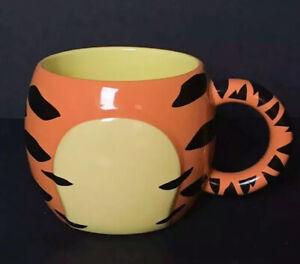 Tigger-Coffee-Mug-Tea-Cup-Disney-Store-Exclusive-Round-Body-NoHead-3D-Coffee-Cup