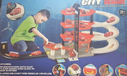 Boy/'s City Police Vehicle//Fire garage Rescue Service Station Xmas Gift 328188