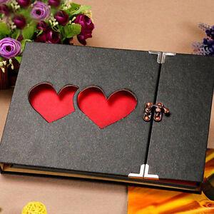 Support-a-album-photo-10-039-039-a-memoire-de-couverture-bricolage-Black-u0026-U8H5
