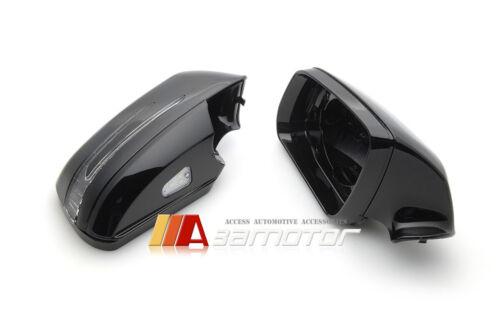Black Arrow Type LED Side Mirrors 2PCS Set for 07-09 Mercedes W204 C-Class Sedan