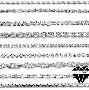 EntrüCkung 925 Silberkette - Panzerkette Kugelkette Schlangenkette Venezianerkette Figaro Um Das KöRpergewicht Zu Reduzieren Und Das Leben Zu VerläNgern