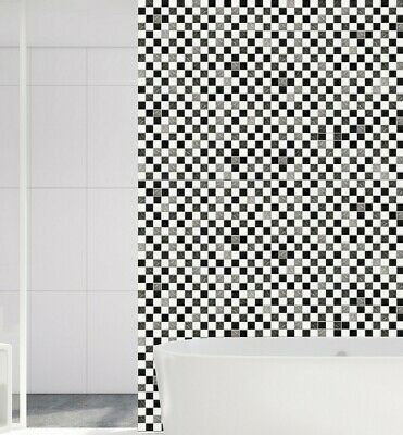 Una Confezione Ha 24pcs Adesivi Mosaico Piastrelle Decalcomania Cucina Bagno Soggiorno Scale-
