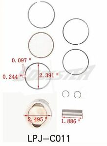 Details about Atv Quad 110cc Engine Motor Piston Kit w Rings COOLSTER 3050A  3050AX 3050B Parts