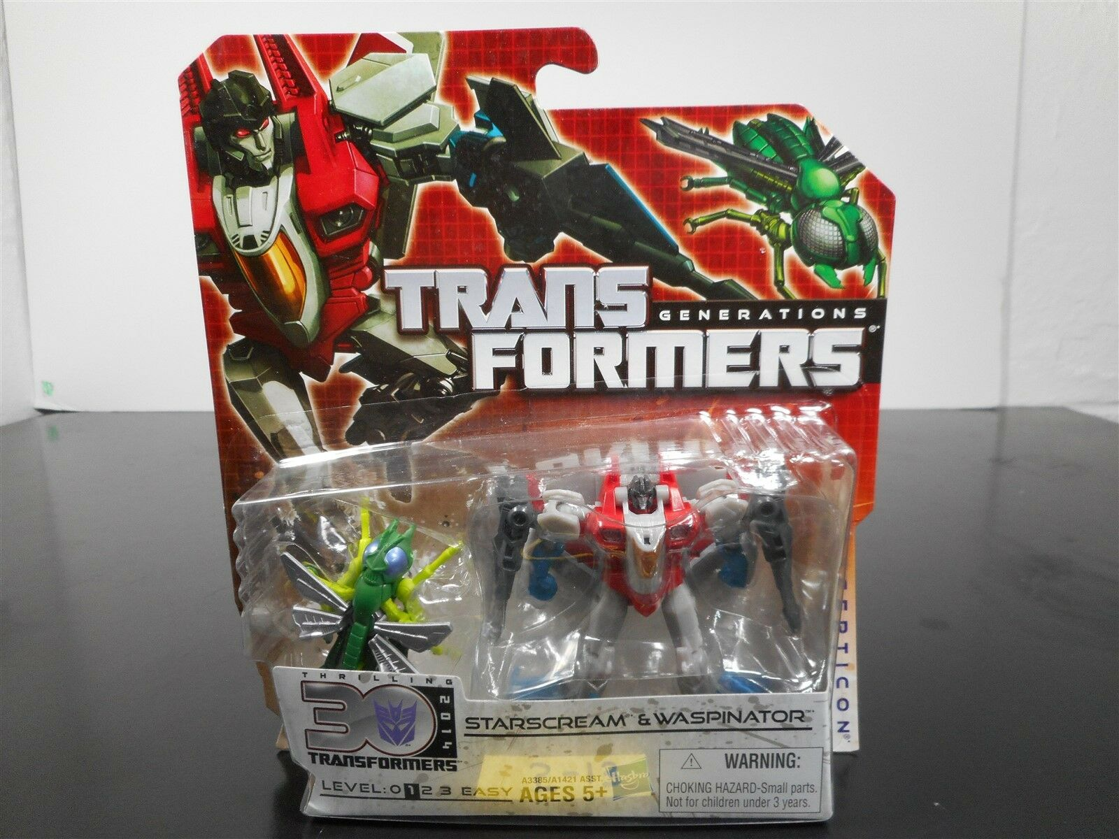 Come NUOVO E SIGILLATO  Transformers Generazioni estrellaSCREAM & Waspinator emozionante 30 513