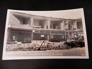 Long Beach California CA Earthquake Damage Building Real Photo Rppc Car Stores