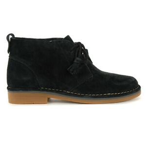 Hush Puppies Women's Cyra Catelyn Black Suede Chukka Boots HWR5490-001 NEW!