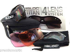 BLOC interchangeable TITAN sports Sunglasses Matte Black/ 4 Lens Box Set X630