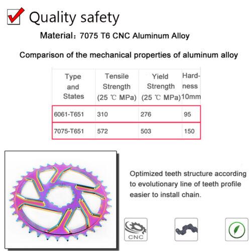 MTB Bicycle GXP 170mm Crank Offset 3mm 32-38T Narrow Wide Chainwheel Crankset US