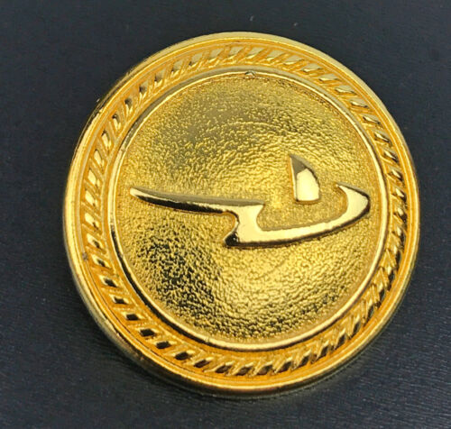 """RODIER Gold tone Metal Main or Pocket Replacement button .80/"""""""