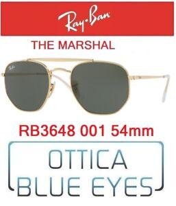 Occhiali-da-Sole-RAY-BAN-SUNGLASSES-RB-3648-001-54mm-RAYBAN-THE-MARSHAL-GOLD