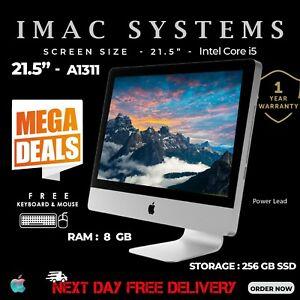 "Apple iMac A1311 21.5"" Mi 2011 Intel Core i5 RAM 8 Go 256 Go SSD Webcam FREE POST"