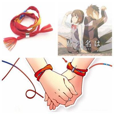 Movie Your Name Kimi no Na wa Miyamizu Mitsuha 3-layers Lovers Bracelet Cosplay