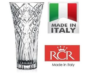 RCR Melodia 30cm Height Italian Crystal Vase - In Gift/Presentation Box 8007815256167