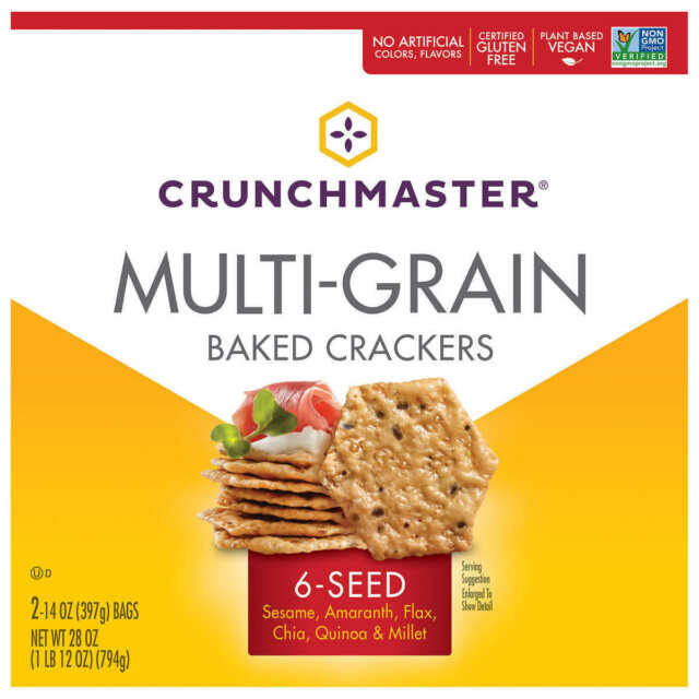 Crunchmaster Multi-Grain Backed Crackers, 28 oz