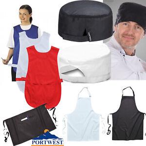 Chef Apron Work Hat Kitchen Bib Apron Catering Cap Restaurant Cooking Workwear