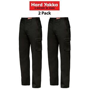 Mens-Hard-Yakka-Cargo-Pants-2-Pack-Generation-Y-Cotton-Drill-Cotton-Work-Y02500