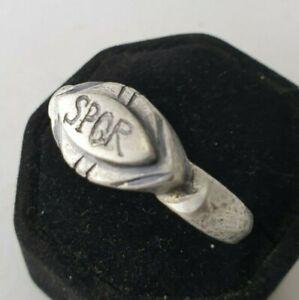 Ancient-Legio-Silver-Ring-Vintage-Antique-ROMAN-RARE