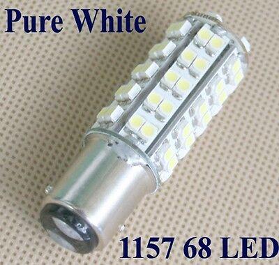 BAY15D 1157 68 LED 3528 SMD Licht Rücklicht Blinklicht weiss 12V DC 3W