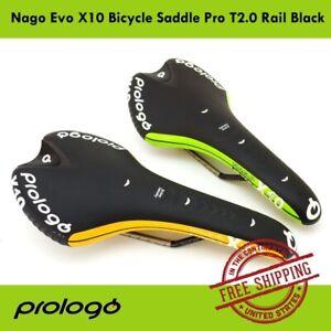 Prologo-Nago-Evo-X10-Bicycle-Saddle-Pro-T2-0-Rail-Black-Road-MTB-Bike