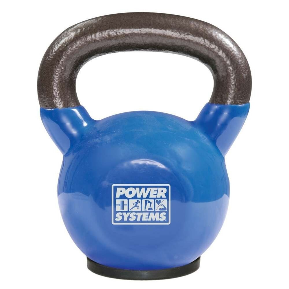 SET of 8 POWER SYSTEMS Premium KETTLEBELLS 18, 25, 30, 40 lbs VINYL COATED STEEL