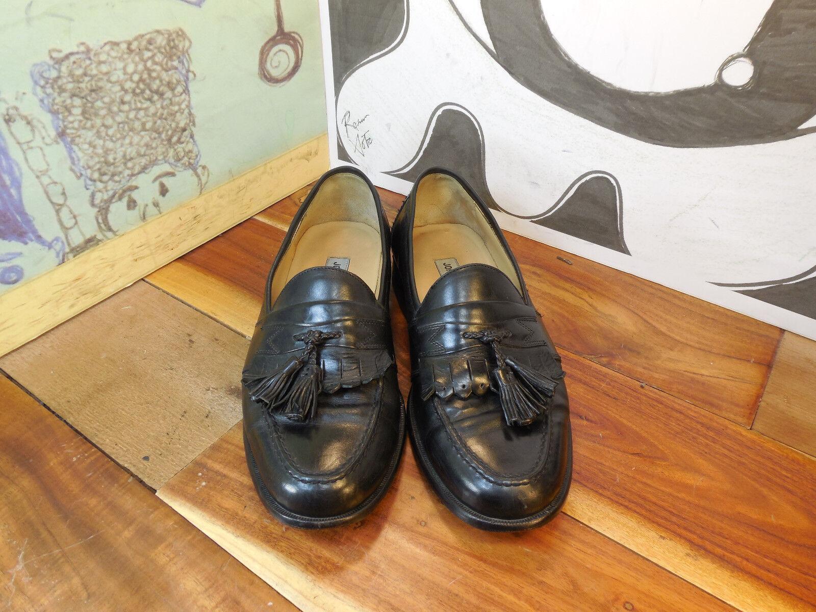 Johnston & Murphy Loafers Black Leather Kiltie Tassel Loafers Murphy Men's 7.5M 8e0feb