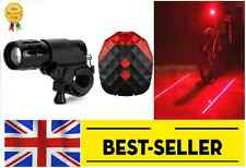 Front  and rear lamp lights set -bright light laser led mountain road bike cycle