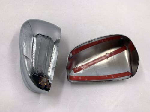 For 08-12 Honda Accord Chrome Side View ABS Mirror Covers Caps Pair Set