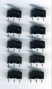 10 X Microswitches Inverseurs 230v - 2a Cherry Dg13 5h6knkxe-07172320-711725775