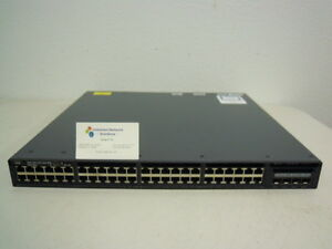 Details about Cisco WS-C3650-48FS-E 48-Ports 10/100/1000 POE+ & 4 1G Switch  + C3650-STACK-KIT